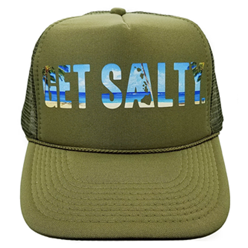 f022da8c Beach Trucker Hat (Black, Olive, Blue) | Get Salty Surf and Sailing Apparel