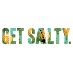 """Patterned Get Salty 8"""" Decal - Wholesale - Pineapple"""