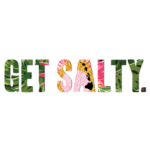 """Patterned Get Salty 8"""" Decal - Wholesale - Protea"""